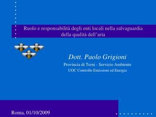 Ruolo e responsabilità degli enti locali nella salvaguardia della qualità dell'aria