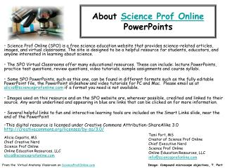 About  Science Prof Online PowerPoints