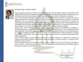 Marcos Santillán Ferreri DIRECTOR Grupo Congreso de Educación