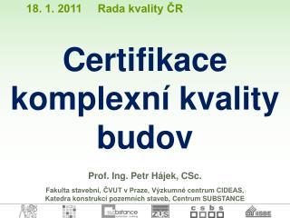 Prof. Ing. Petr H�jek, CSc.