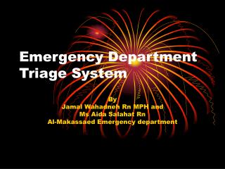 Emergency Department Triage System