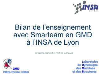 Bilan de l�enseignement avec Smarteam en GMD � l�INSA de Lyon