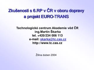 Žilina duben 2004