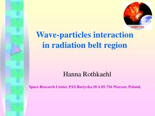 Wave - particle s  interaction in radiation belt region