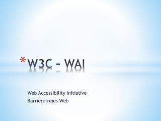 W3C – WAI