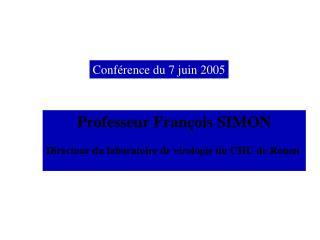 Conférence du 7 juin 2005