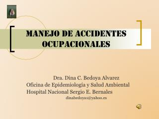 Manejo de accidentes ocupacionales