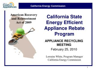 California State Energy Efficient Appliance Rebate Program