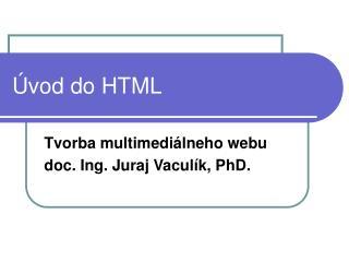 �vod do HTML