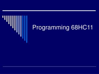 Programming 68HC11
