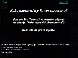 Kako napraviti Icy Tower caracter-a?