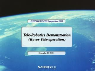 Tele-Robotics Demonstration (Rover Tele-operation)