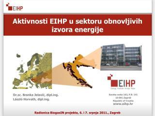 Aktivnosti EIHP u sektoru obnovljivih izvora energije