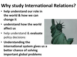 Why study International Relations?