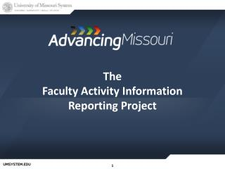 The  Faculty Activity Information Reporting Project