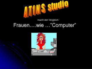 """Frauen….wie …""""Computer"""""""