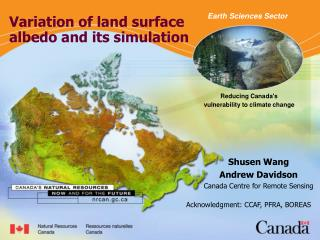 Variation of land surface albedo and its simulation