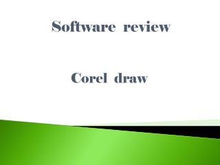 Software  review Corel  draw
