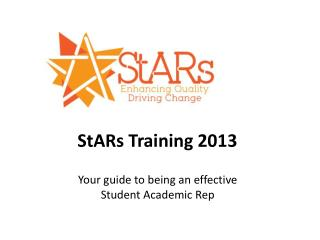 StARs  Training 2013