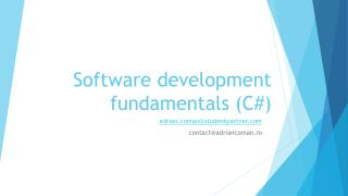 Software development fundamentals (C#)
