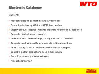 Electronic Catalogue