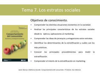Tema 7. Los estratos sociales