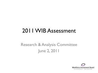 2011 WIB Assessment