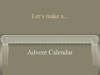 Let's make a...
