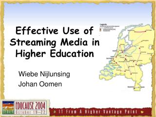Effective Use of Streaming Media in Higher Education