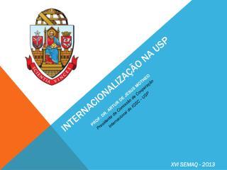 Internacionalização na  usp
