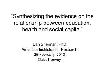 relationship between social capital and health