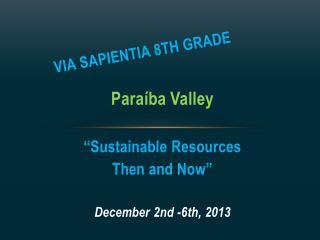Via  Sapientia  8th grade