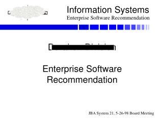 Durakon Division Enterprise Software Recommendation