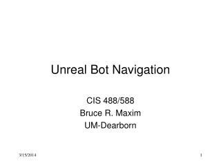 Unreal Bot Navigation