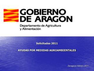 Solicitudes 2011 AYUDAS POR MEDIDAS AGROAMBIENTALES