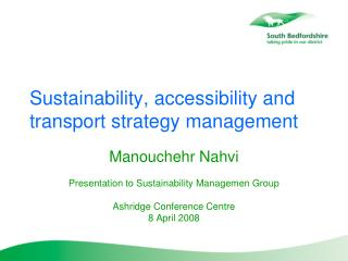 Sustainability, accessibility and transport strategy management