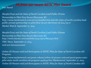 PR from our recent NSTIC Pilot Award