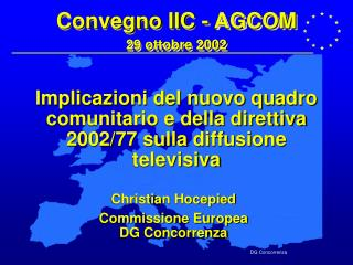 Convegno IIC - AGCOM 29 ottobre 2002