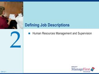 Defining Job Descriptions