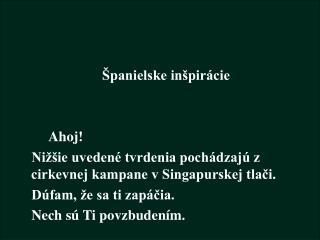 Španielske inšpirácie      Ahoj!