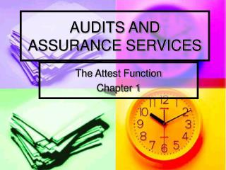 AUDITS AND ASSURANCE SERVICES