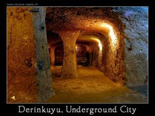 Op deze foto ziet u hoe de ronde deur de toegang tot de onderaardse stad afsloot.