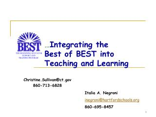Integrating the  Best of BEST into Teaching and Learning