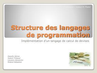 Structure des langages de programmation