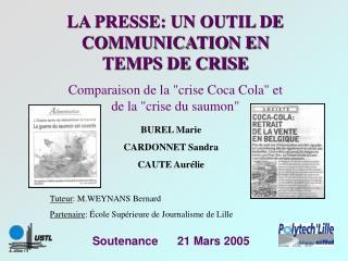 Soutenance      21 Mars 2005