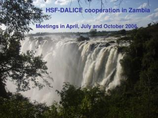HSF-DALICE cooperation in Zambia