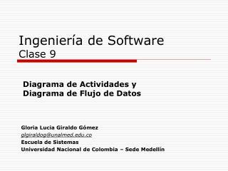 Ingeniería de Software Clase 9