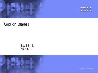 Grid on Blades