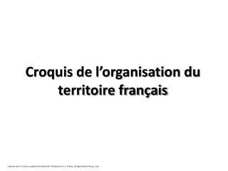 Croquis de l'organisation du territoire français