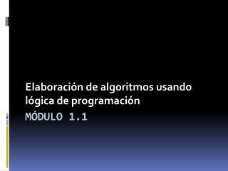 Módulo 1.1